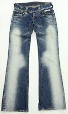 Womens Crocker Golden Queen Ultra Low Rise Blue Vintage Rare Denim Jeans 25 x 32