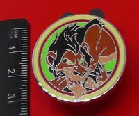Used Disney Enamel Pin Badge Scar Lion King Villain Character 2012