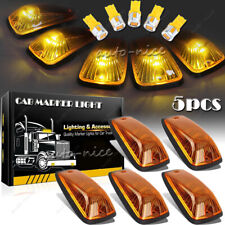 5X Amber LED Cab Marker Roof Running Light Cover Base for GMC/Chevy C3500 C5500