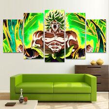 Framed Dragon Ball Super Broly Movie 5 Piece Canvas Print Wall Art Decor