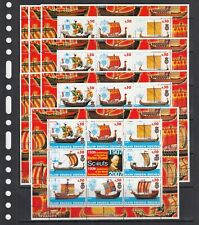 Ships Fleet Vessels Scout 2005 Redonda MNH 8 v M/s №2  perf X 10 Wholesale lot