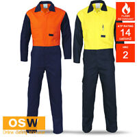 HI VIS DAY FLAME FIRE RETARDANT WELDER THERMAL PROTECTION COVERALLS OVERALLS