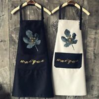 Adjustable Solid Cooking Kitchen Apron-For Woman Men Chef Waiter Waterproof  BBQ