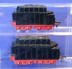 Lot of 2 HO Scale Fleischmann Metal & Plastic Tender Cars