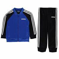 adidas Kids Boys 3 Stripe Poly Tracksuit Infant Long Sleeve Zip Full Elasticated