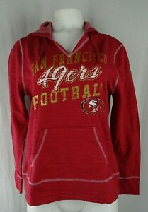 San Francisco 49ers NFL Team Apparel Women's Glitter Logo Hoodie