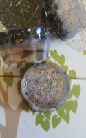 1 x 24k gold silver FLOWER OF LIFE ORGONE CRYSTAL PENDANT TOWER BUSTER ORGONITE