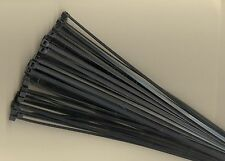 "100 14"" Inch Long 50# Pound Black UV Nylon Cable Zip Ties Ty Wraps MADE IN USA"