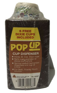 Vintage Dixie POP UP Cup Dispenser 1970s Retro Chicago, Illinois 3 oz VTG NOS