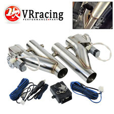 """1SET 2.5"""" Electric Exhaust Downpipe E-Cutout Cut Out Dual Valve Remote Wireless"""
