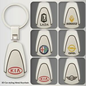 3D Metal Keychain Car Key Ring Car Accessories Key Holder