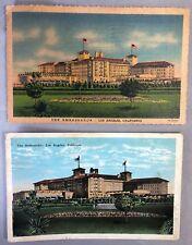2 AMBASSADOR HOTEL Los Angeles California Postcard Vintage