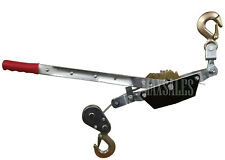 2 Hook Come A Long 2 Ton 4000 Lb Winch Hoist Hand Cable Puller Durable Hd