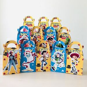 6x Toy Story 2019 Lolly Loot Bag Box. Party Supplies Bunting Banner Flag Cake