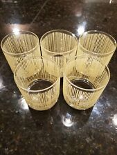 Georges Briard Gold Icicle Rocks Glasses set of 5
