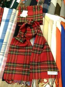 100% Lambswool tartan Scarf by Lochcarron   Royal Stewart   Made in Scotland