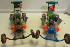 x(2) 1990 TMNT Sewer Dragster Vehicle Car / Missing Pieces