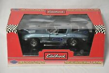 1:18 Ertl Diecast Car: Edelbrock 1963 Corvette Sting Ray Washburn Chevrolet #614