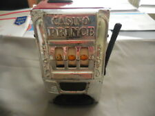Casino Prince  Metal Slot machine Bank Works  by Waco Product of Japan