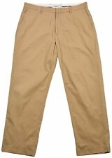 J.Crew Mens Chino Tapered-Relaxed Pants Flat Front Trouser brown Size 34W 30L