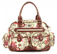 Oilily Tropical Birds Carry All Umhängetasche Schultertasche Tasche Off White