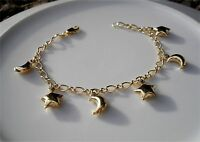 9ct Gold gf charm bracelet SILLY PRICE from 9ct gold direct 087