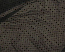 "Burnout Silk VELVET Fabric BLACK DOTS fat 1/4 18""x22"" remnant"
