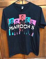 Maroon 5 Men M Tee T Shirt 2013 Tour Black USA Made By American Apparel
