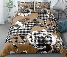 3D Lattice Horse Flower ZHUB502 Bed Pillowcases Quilt Duvet Cover Queen King Amy