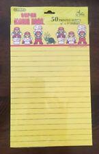 """Vtg 1989 Nintendo """"Super Mario Bros. 2"""" PROMO Stationery Notepad NOS RARE 80's!"""
