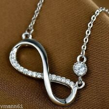 Beautiful FLAWLESS CREATED DIAMOND WITH 925 STERLING SILVER NECKLACE
