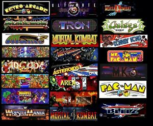 """Custom Size Arcade Marquee up to 35""""x10"""""""