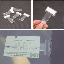 Car Vehicle Parking Ticket Permit 2Pcs Holder Clip Sticker Windscreen Window Kit