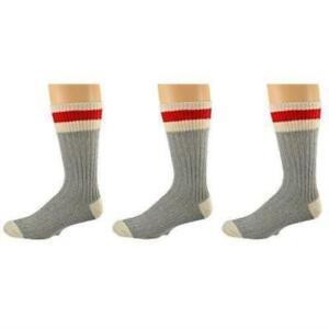 Sierra Socks 3 Pair Pack Wool Striped Boot Work Men's Socks M6400