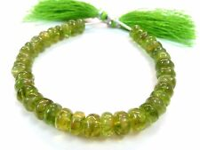"""1 Strands Natural Peridot Rondelle Smooth 7-8mm Approx. Gemstone Beads, 7""""Inch"""