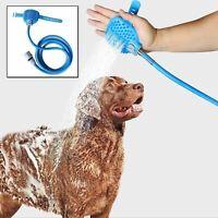 Pet Bath Shower Water Sprayer Head Bathing Tool Hair Washer Cleaning Dog Cat UK
