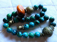 African Amber (neu) Bronze, Chrysocolla Kette, DIY Kettenbau, Halskette