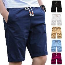 Men Drawstring Shorts Sports Jogger Running Short Pants Summer Solid Color 4XL