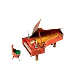 Furniture for Dolls Piano Furnishing Dollhouse Room Miniature 1/12 CARDBOARD 3D