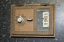 New ListingVintage Original Working 1959 Post Office Mailbox Solid Brass Postal Door Lock