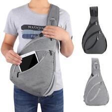 2018 Men Chest Pack Single Shoulder Strap Bag canvas Travel Rucksack Chest Bag