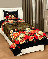 Homefab India 3D Single Bed-Sheet with 1 Pillow Cover (Single172)