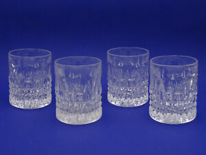 """LOT of 4 GORHAM FAIRFAX DOUBLE OLD FASHIONED GLASS ~ 4"""""""