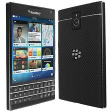 Skinomi Carbon Fiber Black Skin+Clear Screen Protector for Blackberry Passport