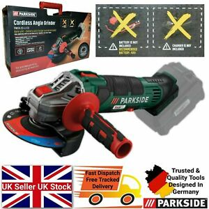 Parkside 20V Cordless Angle Grinder Precisely Grinding and Cutting - Bare UNIT