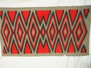 """Wonderful Large Vintage Navajo Eye Dazzler Rug 59"""" x 33"""""""