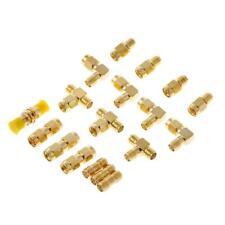 18 Pcs/Set Connector Kits Male Female SMA Plug Antenna Converter Coaxial Adapter