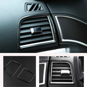 Fit For Ford Explorer 2011-19 Left And Right Air Outlet Vent Trim Black Titanium