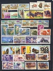 Wild African Animal stamp collection #2 mnh vf with good WWF, IMPERF on 2 pages