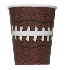 FOOTBALL PARTY 9oz PAPER CUPS (8) ~ Birthday Supplies Beverage Drinking Sports